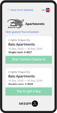 Hotel mobile check-in application